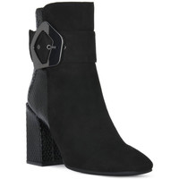 Chaussures Femme Bottines Café Noir CAFE NOIR  TRONCHETTO FIBBIA Nero
