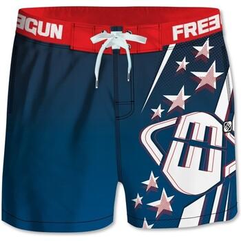 Vêtements Homme Maillots / Shorts de bain Freegun Boardshort court homme Bleu Bleu