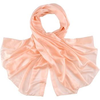 Accessoires textile Femme Echarpes / Etoles / Foulards Allée Du Foulard Etole soie unie - Couleur - Saumon Saumon