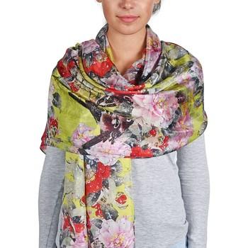 Accessoires textile Femme Echarpes / Etoles / Foulards Allée Du Foulard Etole soie Floraly Multicolore