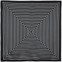 Accessoires textile Femme Echarpes / Etoles / Foulards Allée Du Foulard Carré de soie Piccolo psychic noir
