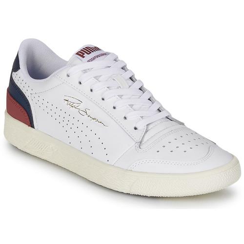 Puma RALPH SAMPSON Blanc / Marine / Bordeaux - Chaussures Baskets ...