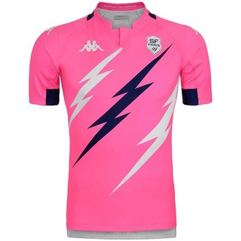 Vêtements Polos manches courtes Kappa Maillot rugby Stade Français P Rose