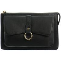 Sacs Femme Pochettes / Sacoches Hexagona Pochette cuir  ref_46670 Noir 21.5*14.5*6.5 noir