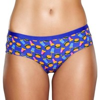 Sous-vêtements Femme Shorties & boxers Happy Socks HAMBURGER violet