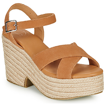 Chaussures Femme Sandales et Nu-pieds Superdry HIGH ESPADRILLE SANDAL Cognac
