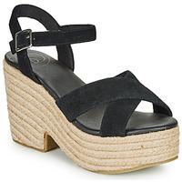 Chaussures Femme Sandales et Nu-pieds Superdry HIGH ESPADRILLE SANDAL Noir