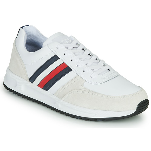Chaussures Homme Baskets basses Tommy Hilfiger MODERN CORPORATE LEATHER RUNNER Blanc