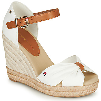 Chaussures Femme Sandales et Nu-pieds Tommy Hilfiger BASIC OPENED TOE HIGH WEDGE Blanc