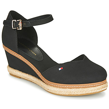 Chaussures Femme Sandales et Nu-pieds Tommy Hilfiger BASIC CLOSED TOE MID WEDGE Noir