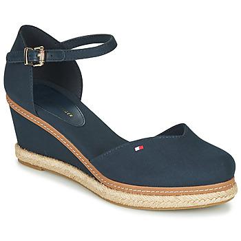 Chaussures Femme Sandales et Nu-pieds Tommy Hilfiger BASIC CLOSED TOE MID WEDGE Bleu