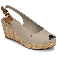 Chaussures Femme Sandales et Nu-pieds Tommy Hilfiger ICONIC ELBA SLING BACK WEDGE Taupe