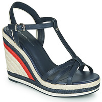 Chaussures Femme Sandales et Nu-pieds Tommy Hilfiger TOMMY STRAPPY HIGH WEDGE Bleu