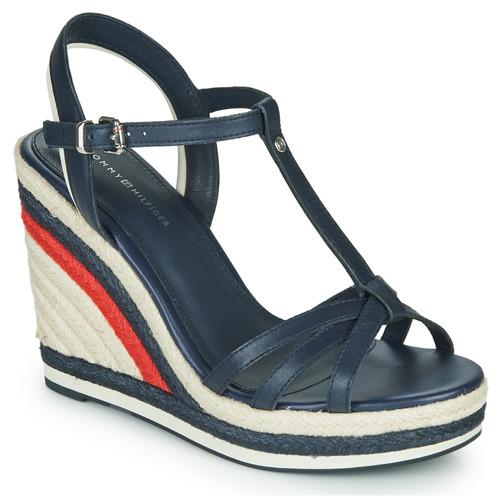 Chaussures Femme Sandales et Nu-pieds Tommy Hilfiger TOMMY STRAPPY HIGH WEDGE Bleu