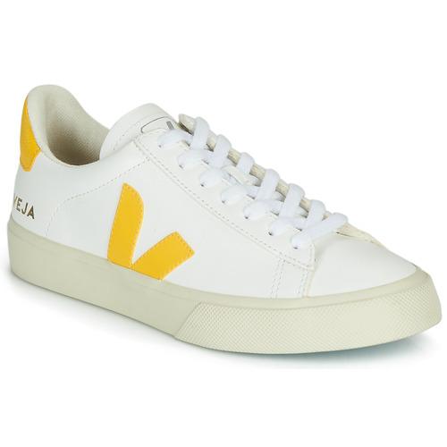 Chaussures Baskets basses Veja CAMPO Blanc / Jaune
