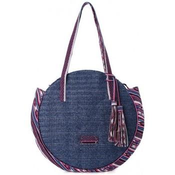 Sacs Femme Sacs porté épaule Fuchsia Sac épaule rond paille  Raffia Malone Bleu marine Multicolor