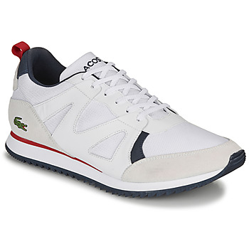 Chaussures Homme Baskets basses Lacoste AESTHET 120 2 SMA Blanc / Bleu / Rouge