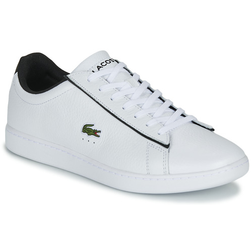 Chaussures Homme Baskets basses Lacoste CARNABY EVO 120 2 SMA Blanc / Noir