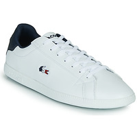 Chaussures Homme Baskets basses Lacoste GRADUATE TRI1 SMA Blanc / Marine / Rouge