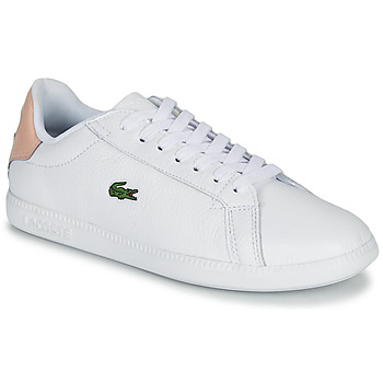Chaussures Femme Baskets basses Lacoste GRADUATE 120 1 SFA Blanc / Rose