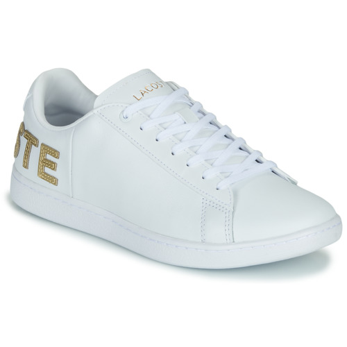 Chaussures Femme Baskets basses Lacoste CARNABY EVO 120 6 US SFA Blanc / Doré