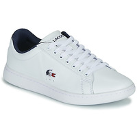 Chaussures Femme Baskets basses Lacoste CARNABY EVO TRI 1 SFA Blanc / Marine / Rouge