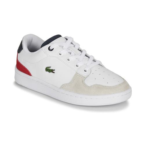 Chaussures Enfant Baskets basses Lacoste MASTERS CUP 120 2 SUC Blanc / Bleu / Rouge