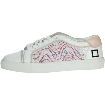 Chaussures Femme Baskets basses Date E20-6 Blanc/rose