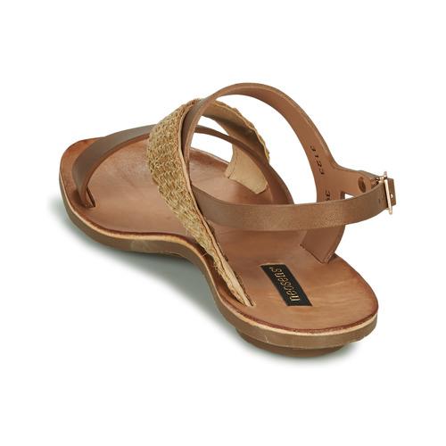 Neosens Daphni Marron / Beige - Livraison Gratuite- Chaussures Sandale Femme 11900 KEtFY