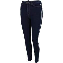 Vêtements Femme Jeans slim Waxx Harlem stripes brut w Bleu marine / bleu nuit