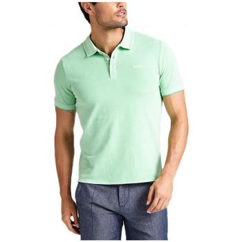 Vêtements Homme Polos manches courtes Guess polo Coton Pique Homme DAMON M92P17 Vert Clair