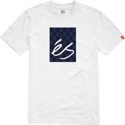 Vêtements Homme T-shirts manches courtes Es SPOT CHECK BLOCK SS TEE WHITE
