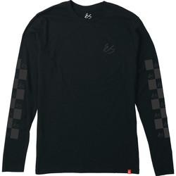 Vêtements Homme T-shirts manches longues Es SPOT CHECK LS TEE BLACK
