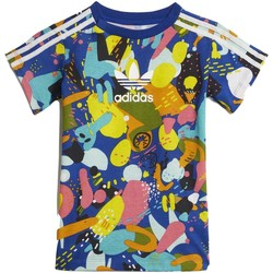 Vêtements Fille Ensembles de survêtement adidas Originals COMPLETINO GRIGIO E BLU Multicolore
