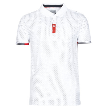 Vêtements Homme Polos manches courtes Casual Attitude NELLY Blanc