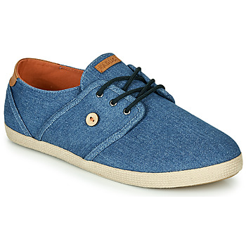 Chaussures Baskets basses Faguo CYPRESS Bleu / Marron