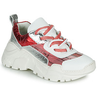 Chaussures Femme Baskets basses Fru.it CARETTE Blanc / Rouge / Argenté