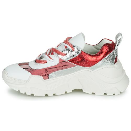 Fru.it Carette Blanc / Rouge Argenté - Livraison Gratuite- Chaussures Baskets Basses Femme 22680 MST4j