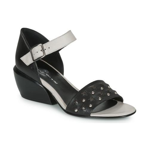 Chaussures Femme Sandales et Nu-pieds Fru.it LEMMINE Noir / Blanc