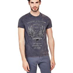 Vêtements Homme T-shirts manches courtes Guess T-Shirt Homme LBTMF Bleu Bleu