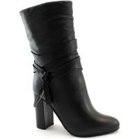 Chaussures Femme Bottes ville Café Noir CAF-I19-LC424-NE Nero