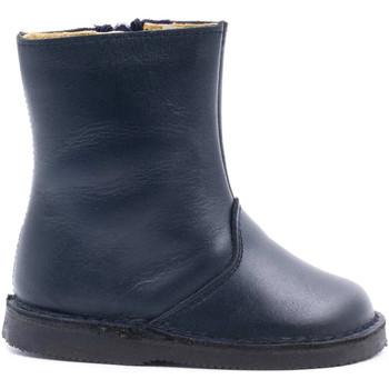 Chaussures Enfant Bottes ville Boni & Sidonie Boots fourrées en laine de mouton - MINI CLOVIS Bleu Marine