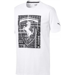 Vêtements Homme T-shirts manches courtes Puma Ferrari Big Shield Blanc
