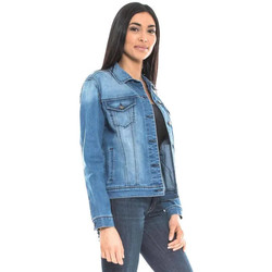 Vêtements Vestes en jean Waxx Veste joggjean SOHO Bleu
