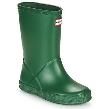 Chaussures Enfant Bottes de pluie Hunter KIDS FIRST CLASSIC Vert