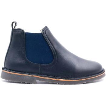 Chaussures Enfant Boots Boni & Sidonie Boots fourrées en laine de mouton - SERGUEI Bleu Marine
