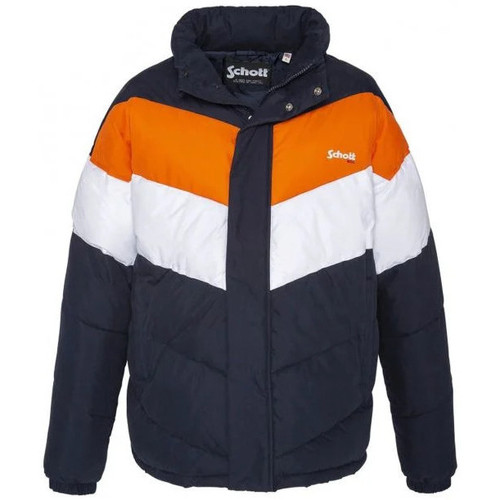 Vêtements Homme Doudounes Schott NEBRASKA2 NAVY/ORANGE/WHITE Blanc/navy