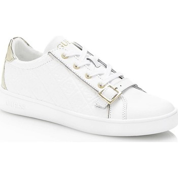 Chaussures Femme Baskets basses Guess Baskets Femme Sneaker Gio Blanc Blanc