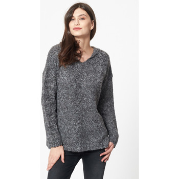 Vêtements Femme Pulls Best Mountain Pull oversize à capuche GRIS CHINE CLAIR