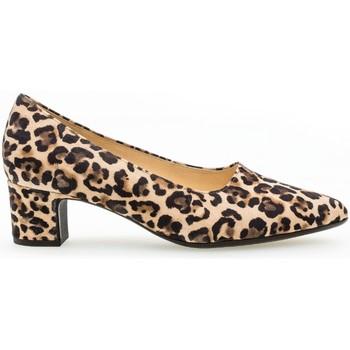 Chaussures Femme Escarpins Gabor Escarpins nubuck talon  recouvert Beige